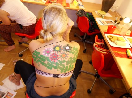 Event body painting Warsaw Poland