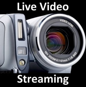 On-line transmissions, live on the internet transmissions, live streaming